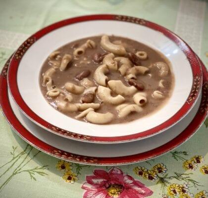 Sopa de Feijão Encarnado com Massa de Cotovelos sopa de feijão encarnado com massa de cotovelos - Sopa de Feijão Encarnado com Massa de Cotovelos