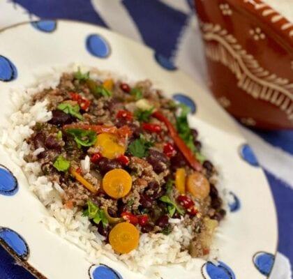 chili receita - Chili à minha moda