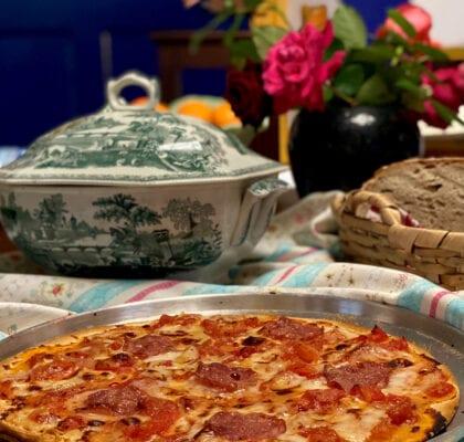 - Pizza quebrada